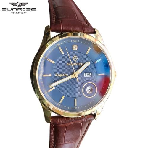 Đồng hồ nam sunrise dm784swa bl [ chính hãng full box ] kính sapphire chống xước , chống nước