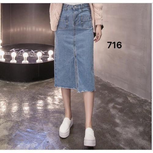 Chân váy jean nữ năng động - 6500592 , 16583973 , 15_16583973 , 125000 , Chan-vay-jean-nu-nang-dong-15_16583973 , sendo.vn , Chân váy jean nữ năng động