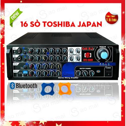 Ampli Bluetooth 16 sò LỚN Amply Karaoke Gia Đình Cali DJ HTC-580D Hàng Cao Cấp Tặng 2 chống lăn micro