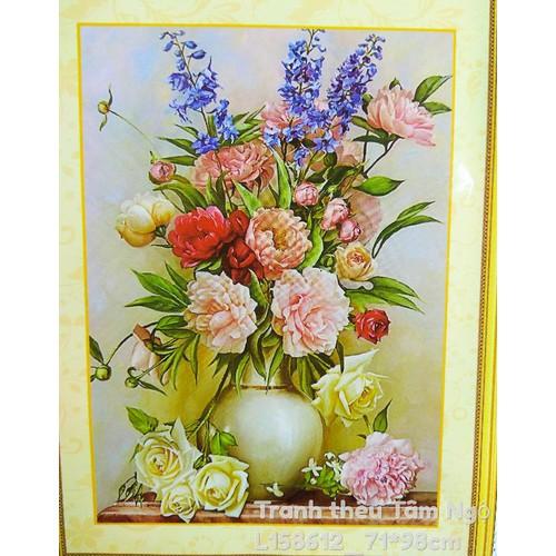 Tranh thêu chữ thập Bình hoa đẹp chỉ lụa - 7338737 , 17129225 , 15_17129225 , 228000 , Tranh-theu-chu-thap-Binh-hoa-dep-chi-lua-15_17129225 , sendo.vn , Tranh thêu chữ thập Bình hoa đẹp chỉ lụa