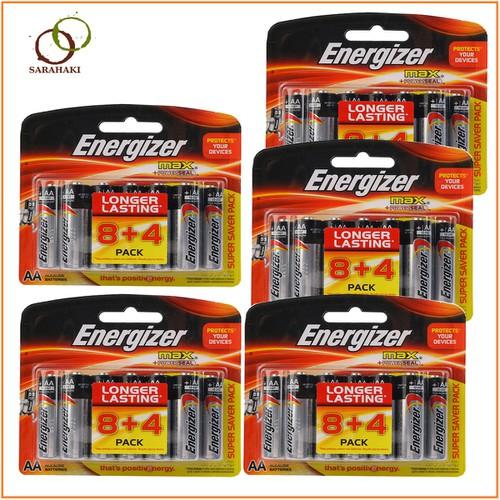 Combo 5 vỉ pin AA Energizer loại 1 vỉ 12 viên