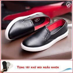 Giày Slip On Nam Aroti Đế Khâu Chắc Chắn Phong Cách Đơn Giản Màu Đen - M498-DEN|010419