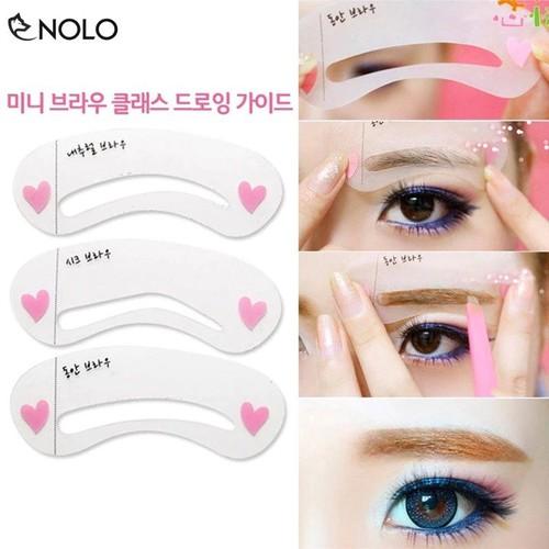 Combo 2 Bộ Khuôn Vẽ Chân Mày DIY Eyebrow Template Gồm 3 Miếng Cho 3 Kiểu