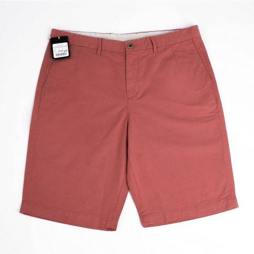 FO76 KHO HÀNG XUẤT DƯ  - MASSIMO DUTTI - Quần Short Nam Vải Linen Màu Đỏ San Hô