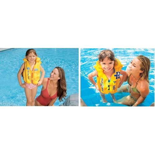 Áo phao giúp bé tập bơi, có nút bơm hơi cực căng hàng chính hãng an toàn cho bé