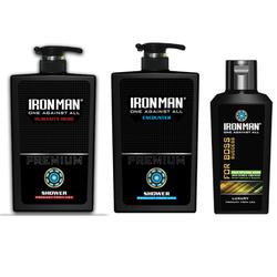 Combo 2 chai sữa tắm hương nước hoa Ironman Humanity - Ironman Encounter 650g và Tinh chất thảo dược vệ sinh nam