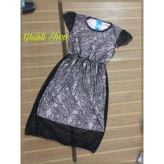 Đầm pha ren hoa hồng đen kiêu sa hình thật - V018 thumbnail