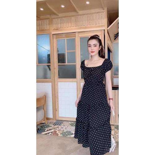 Váy trễ vai nữ họa tiết chấm bi - 7310945 , 17116495 , 15_17116495 , 210000 , Vay-tre-vai-nu-hoa-tiet-cham-bi-15_17116495 , sendo.vn , Váy trễ vai nữ họa tiết chấm bi