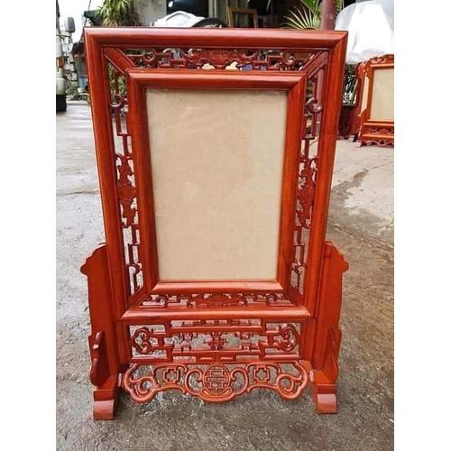 Khung ảnh thờ kép đục dơi ,gỗ hương ,KT ảnh 20*30 cm -shop đồ gỗ Nhân Ái
