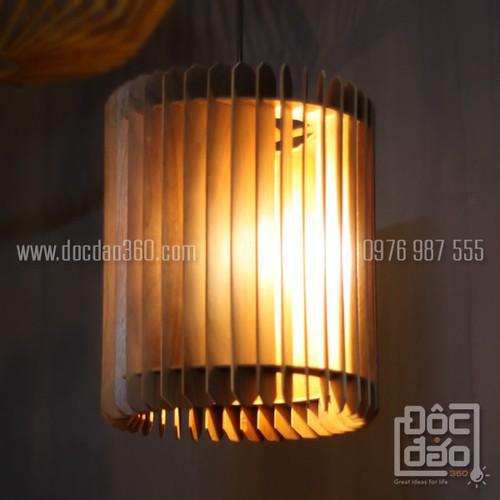 Đèn gỗ thả trần trang trí mẫu D360-TT54