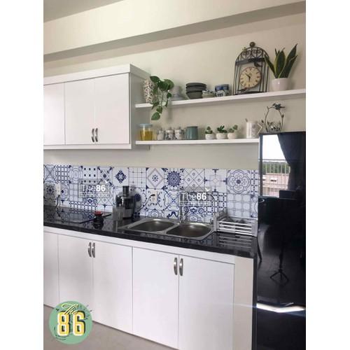 Decal gạch bông trắng xanh dán bếp - 7325109 , 17122820 , 15_17122820 , 90000 , Decal-gach-bong-trang-xanh-dan-bep-15_17122820 , sendo.vn , Decal gạch bông trắng xanh dán bếp