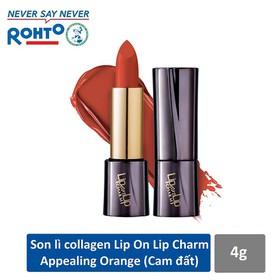 Son lì Collagen siêu mịn Lip On Lip Charm Appealing Orange 4g - Cam đất - RMV-LOL-C-AO