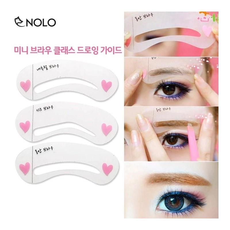 Combo 2 Bộ Khuôn Vẽ Chân Mày DIY Eyebrow Template Gồm 3 Miếng Cho 3 Kiểu – khuonvechanmay3cai