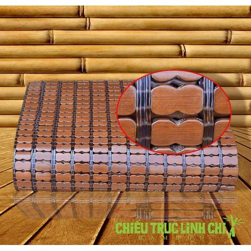Chiếu trúc tre hạt nhỏ không viền màu nâu gỗ kích thước 140x190cm