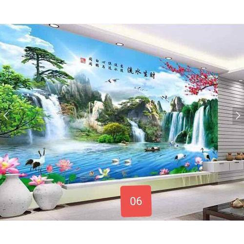 tranh dán tường phong cảnh 3D