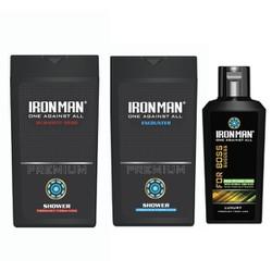 Combo 2 chai sữa tắm hương nước hoa Ironman Humanity - Ironman Encounter 380g và Tinh chất thảo dược vệ sinh nam