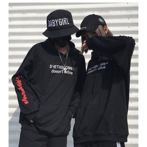 Áo khoác hoodie nữ đen đẹp giá rẻ style Hàn Quốc tay chữ form rộng - 7314919 , 17118432 , 15_17118432 , 99000 , Ao-khoac-hoodie-nu-den-dep-gia-re-style-Han-Quoc-tay-chu-form-rong-15_17118432 , sendo.vn , Áo khoác hoodie nữ đen đẹp giá rẻ style Hàn Quốc tay chữ form rộng