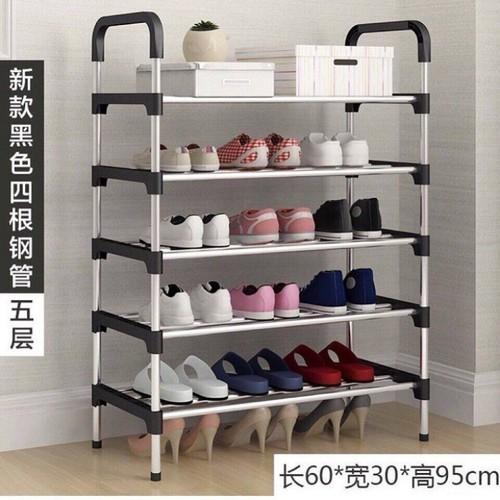 Kệ đựng giầy - giá để giầy - kệ giầy inox 5 tầng - tủ đựng giầy - kệ giầy inox