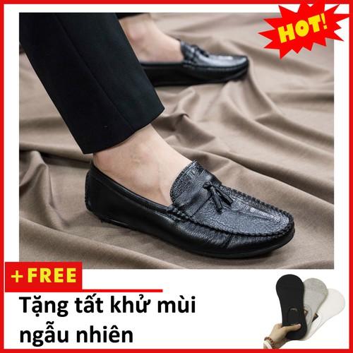 Giày mọi nam đẹp đế khâu có chuông vân cá sấu màu đen sang trọng - m117|010419 vgiày nam|giày nam đẹp|m117-21319 - giay lười nam - giay mọi nam đẹp - sang trọng -phong cách - hàng chuẩn - gía  - 20188966 , 17125217 , 15_17125217 , 190000 , Giay-moi-nam-dep-de-khau-co-chuong-van-ca-sau-mau-den-sang-trong-m117010419-vgiay-namgiay-nam-depm117-21319-giay-luoi-nam-giay-moi-nam-dep-sang-trong-phong-cach-hang-chuan-gia-re-15_17125217 , sendo.vn , G
