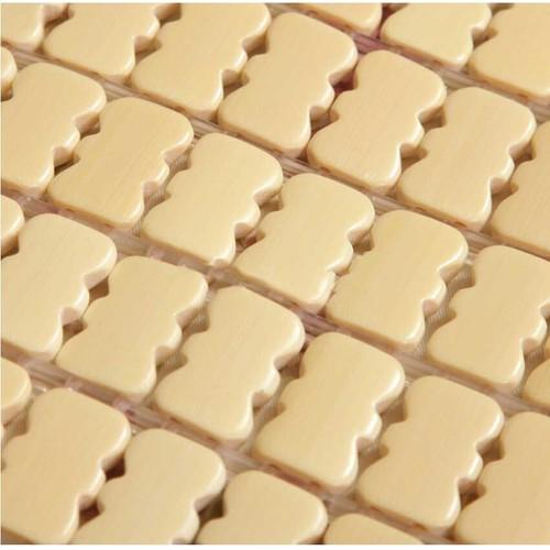 Chiếu trúc hạt to loại không viền màu trắng kích thước 1m x 1m9