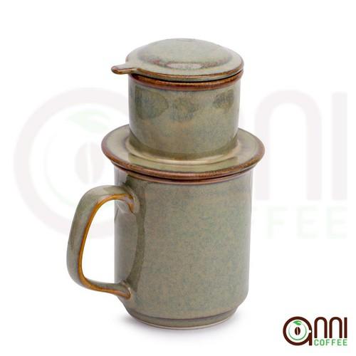 Phin cà phê gốm Bát Tràng Men Ngọc Lam Cao Cấp Anni Coffee