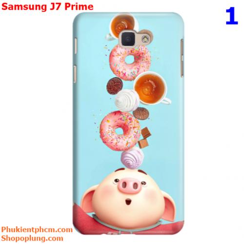 Ốp lưng Samsung J7 Prime in hình Heo đáng yêu M1 - M43