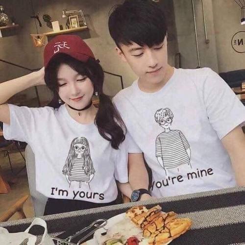 COMBO 2 Áo thun cặp đôi Nam Nữ phong cách Hàn Quốc 1 nam 1 nữ - Thời trang GMH