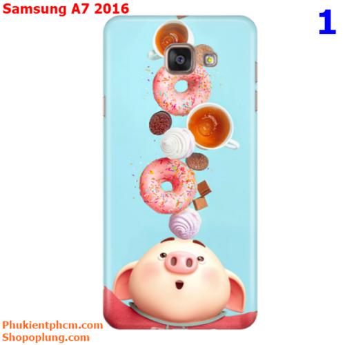 Ốp lưng Samsung A7 2016 in hình Heo đáng yêu M1 - M43