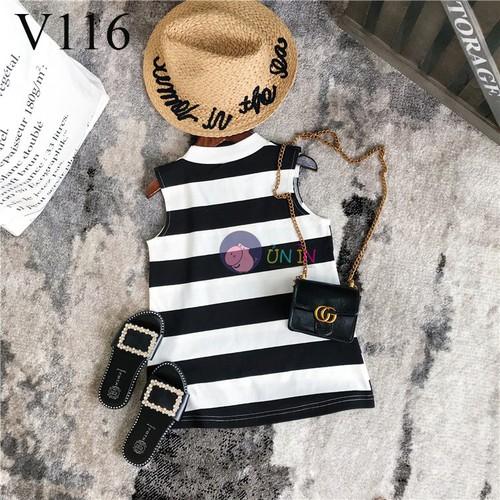 V116 - Đầm Sọc Phong Cách