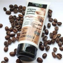 Tẩy da chết mặt Organic Shop Coffee 75g