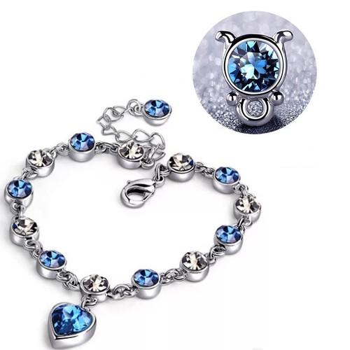 Lắc tay nữ - Lắc tay thời trang nữ đá SEA BLUE - VTNTQX01