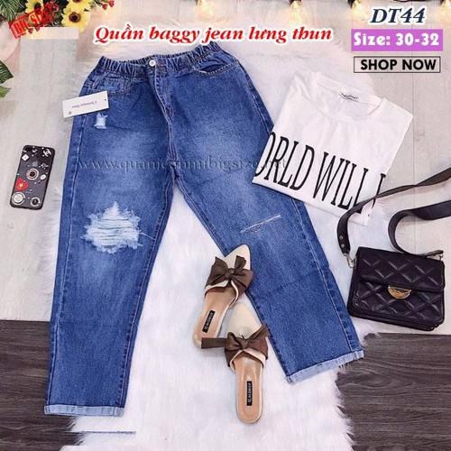 Quần Baggy jean lưng thun DT44 size 30-32