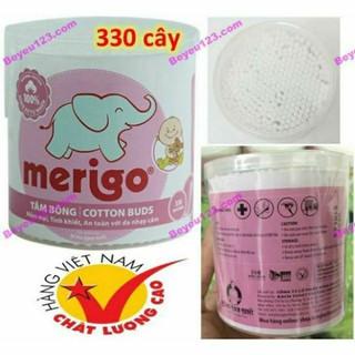 Hộp tăm bông 330 cây cho trẻ em Merigo - Bạch Tuyết - BONG12 thumbnail