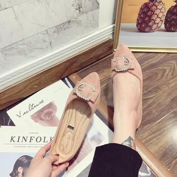 Giày búp bê mũi nhọn khoá C |Giày búp bế nữ