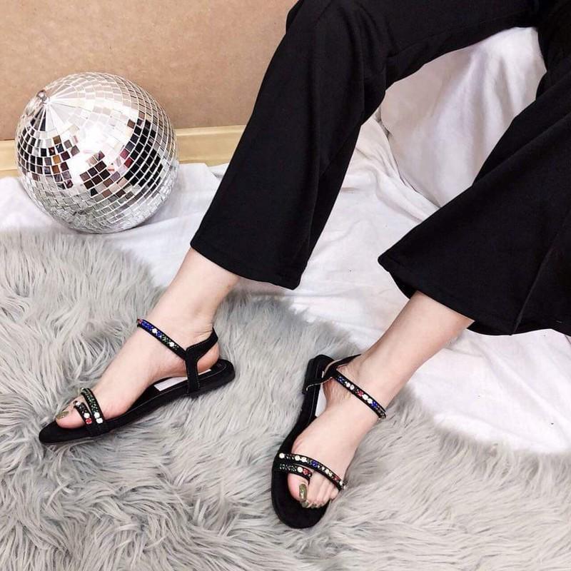 Giày sandal xỏ ngón đá màu |Giày sandal nữ 2