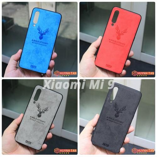 Ốp lưng Xiaomi Mi 9 Vân Vải Jean In Hình Nai 3D