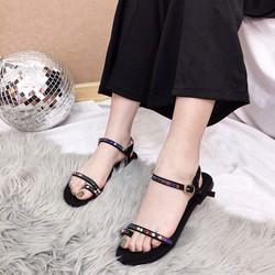 Giày sandal xỏ ngón đá màu |Giày sandal nữ