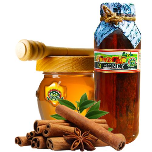 M Honey - Mật ong rừng ngâm Quế - Cải thiện chức năng tim mạch, não bộ, sinh lý - 500ml