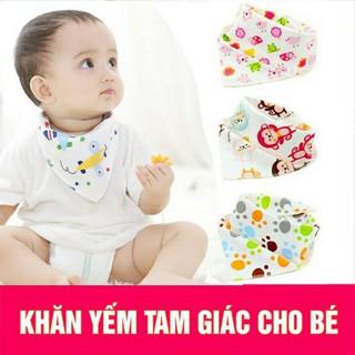 Combo 2 Khăn vải yếm tam giác có nút bấm giữ ấm cổ cho bé - KHAN10 thumbnail