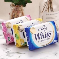 Bánh xà phòng tắm KAO White 130g hàng nội địa Nhật