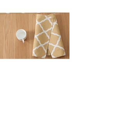 Khăn lót bàn ăn canvas hình thoi vàng