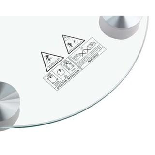 Cân sức khoẻ tròn 180kg kính cường lực cân điện tử - P4026X thumbnail