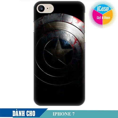 Ốp lưng nhựa cứng nhám dành cho iPhone 7 in Hình Captian America
