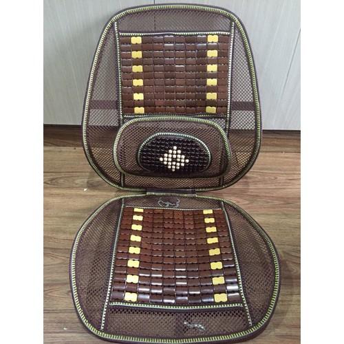 Lót ghế ô tô, lót ghế văn phòng dạng lưới có hạt gỗ tạo sự thoáng mát cho lưng, mông