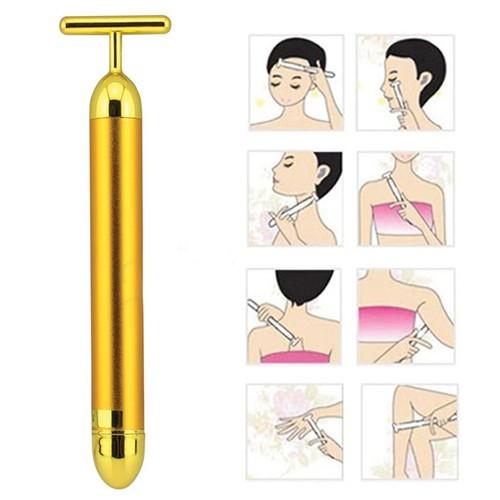 Máy Massage mặt giúp da mặt săn chắc hơn, cải thiện một cách rõ ràng tình trạng da bị chảy xệ
