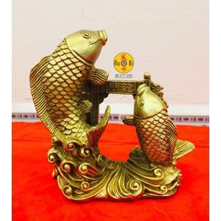 Cá Chép Vượt Vũ Môn 12cm - Tượng Đồng Phong Thủy - Ca04 thumbnail