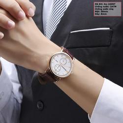 Đồng hồ nam dây da trẻ trung năng động KO-160