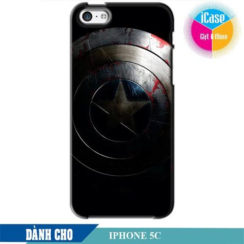 Ốp lưng nhựa cứng nhám dành cho iPhone 5C in Hình Captian America