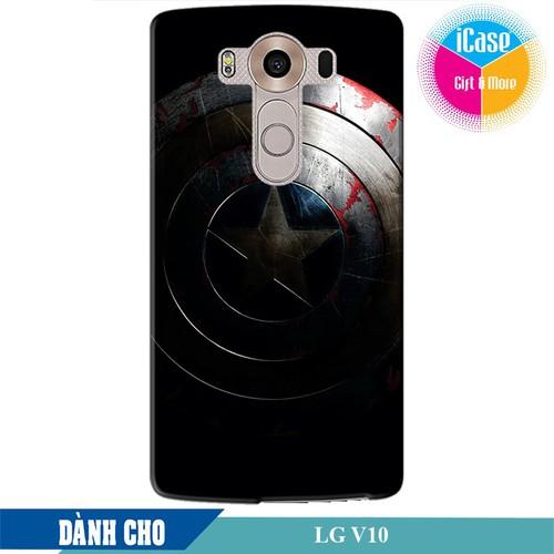 Ốp lưng nhựa cứng nhám dành cho LG V10 in Hình Captian America