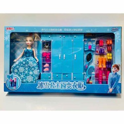 Đồ chơi ngôi nhà búp bê tủ quần áo búp bê Elsa